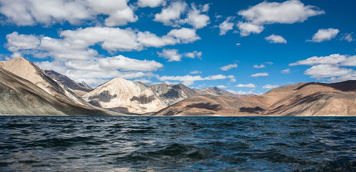 Clear Symbol of Nature Craftsmanship 	             Pangong Tso lake
